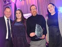 Image of Detached Youth Work Team with their award