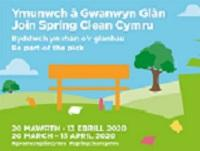 Image promoting the 2020 Spring Clean Cymru Campaign