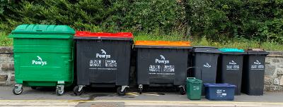 Image of the full range of Commercial recycling bins