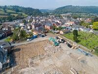Image of housing development site in Llanidloes