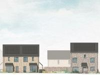 Image of artist impression of new council houses being built in Newtown