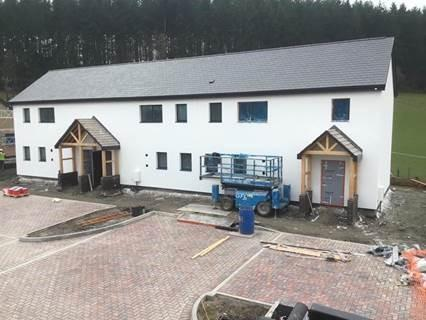 Image of new social housing in Sarn