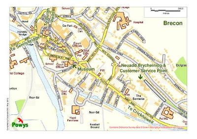 Brecon map