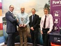 Image of the recycling award presentation