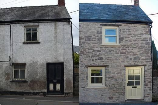 Image of before and after a derelict property has been restored