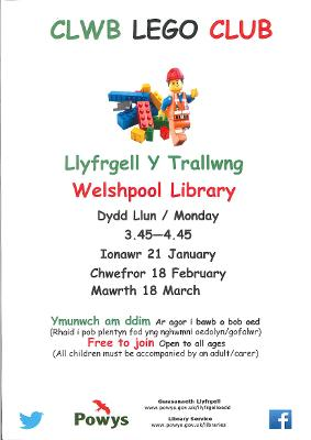 Welshpool Library - Lego Poster