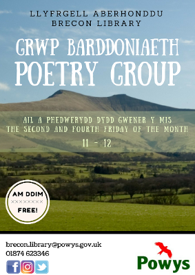 Brecon Library Poetry Group Poster