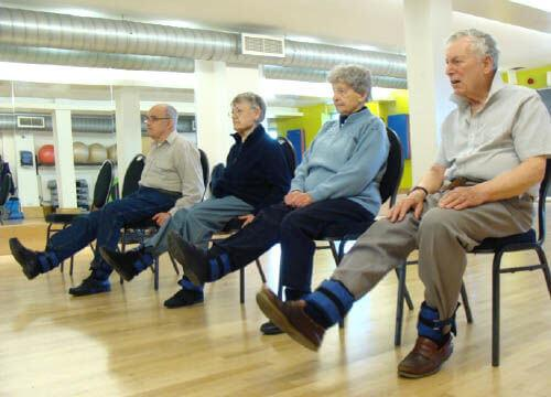 Image of someone taking part in a NERS fall prevention session