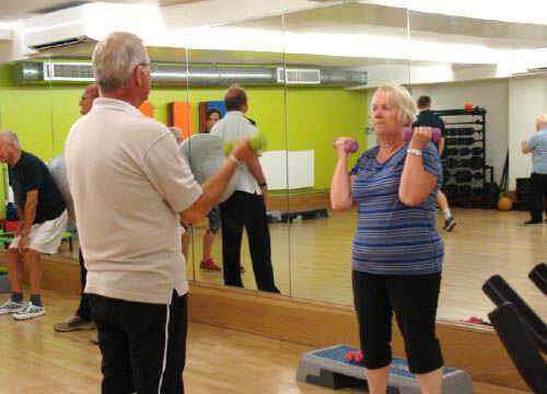 Image of someone taking part in a NERS balance and strength session