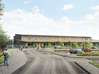 Artists impression of the new Welshpool school