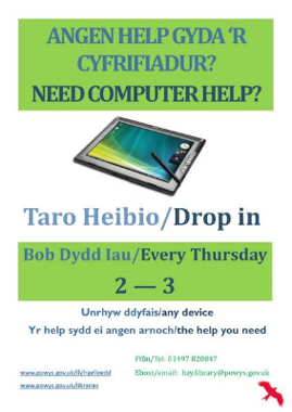 Hay Library Computer Help Sessions Poster