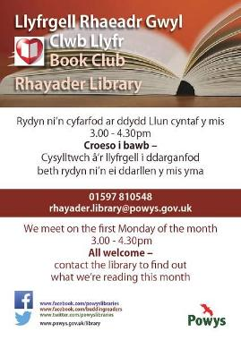 Rhayader Library Book Club Poster