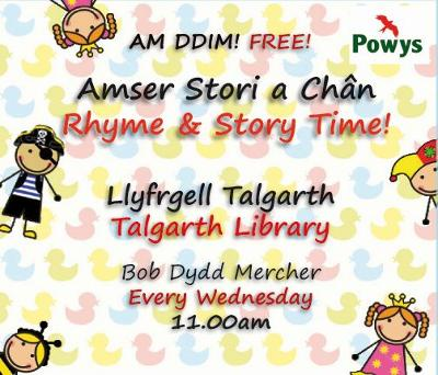 Talgarth Library Rhyme & Story Time Poster