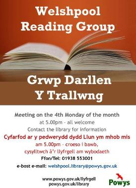 Welshpool Library Reading Group Poster