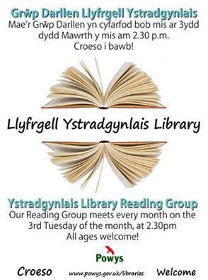 Ystradgynlais Library Reading Group Poster