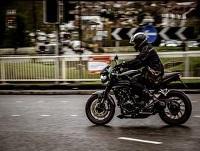 Image of a motorcyclist