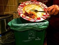 Image of food being recycled