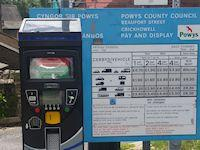 Image of a pay and display ticket machine
