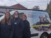 Image of staff from Hafren Dyfrdwy in front of a van