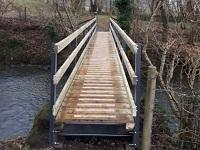 Image of the repaired footbridge over Clywedog Brook