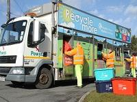 Image of a recycling lorry