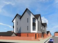 Image of an artists' impression of new housing development in Newtown