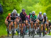 Image of competitors in OVO Energy Women's Tour cycle race