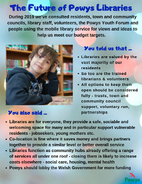 Future of Powys Libraries poster