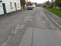 Image of road through Llyswen